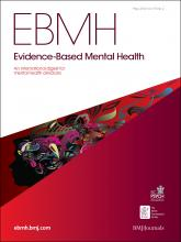 Evidence Based Mental Health: 15 (2)