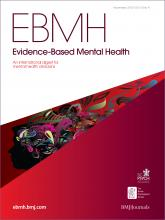 Evidence Based Mental Health: 15 (4)