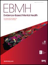 Evidence Based Mental Health: 16 (3)