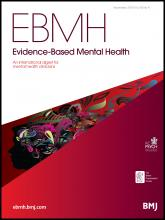 Evidence Based Mental Health: 16 (4)