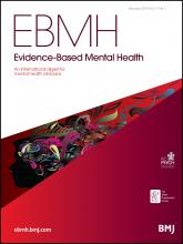 Evidence Based Mental Health: 17 (1)