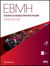 Evidence Based Mental Health: 17 (2)