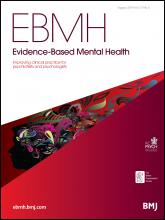 Evidence Based Mental Health: 17 (3)