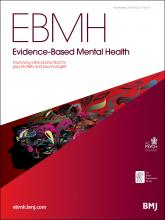 Evidence Based Mental Health: 17 (4)