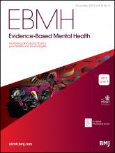 Evidence Based Mental Health: 18 (4)