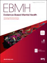 Evidence Based Mental Health: 19 (3)