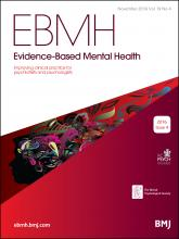 Evidence Based Mental Health: 19 (4)