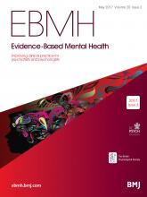 Evidence Based Mental Health: 20 (2)