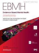 Evidence Based Mental Health: 20 (4)