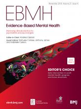 Evidence Based Mental Health: 21 (4)