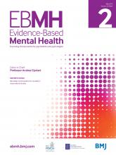 Evidence Based Mental Health: 22 (2)