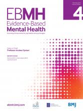 Evidence Based Mental Health: 22 (4)