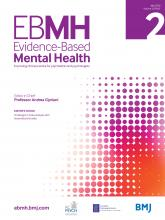 Evidence Based Mental Health: 23 (2)