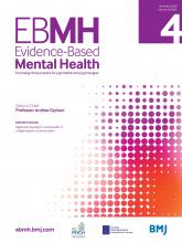 Evidence Based Mental Health: 23 (4)